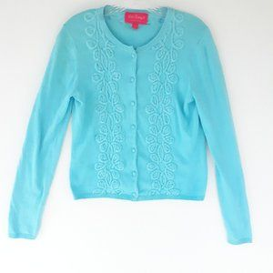 Lilly Pullitzer M Jubilee Cardigan Sweater Blue